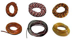 Servokabel, Servolitze, 0,08 bis 0,5mm², Graupner, Futuba, Multiplex Farbe