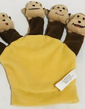 Monkey Story Hand Glove Puppet Five Little Monkeys Yellow Brown