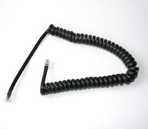 4m Telefon-Hörer-Spiral-Kabel schwarz gewendelt RJ-10 4P4C 4,0 m Wendel-Schnur
