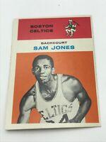 Sam Jones, 1961-62 Fleer #23 rookie card - Boston Celtics Basketball