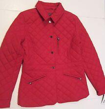 Women's Ladies Lightweight Ralph Lauren Red Quilted Peplum Spring Fall Jacket XS