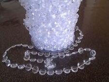 **1M GUIRLANDE PERLES DIAMANT 10mm**décoration vase, mariage baptême cérémonie
