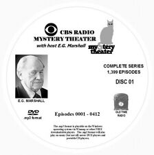 CBS RADIO MYSTERY THEATER -  1,399 Shows Old Time Radio In MP3 Format OTR 4 DVDs