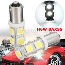 2Pcs H6W BAX9S 9 LED Car Side Indicator Light Bulb DRL Interior Bulbs 12V White