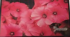 CHECKBOOK COVER PERSONALIZED PInk Morning Glory Flowers