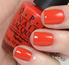 OPI NAIL POLISH Lacquer MY PAPRIKA IS HOTTER THAN YOURS ~ SPICY RED-ORANGE