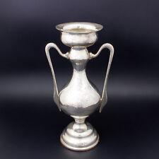 Art Deco Walker & Hall Engraved Sterling Silver 454Gr 2 Handle Urn Posy Vase