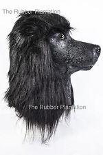 Cane Barboncino Nero Maschera in lattice sovraccarico animale Costume Costume dei Cani pet