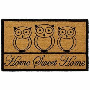 "Storm Stopper Printed Coir Mat 18""x28"" Sweet Home Owl"
