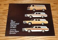 Original 1965 Ford Station Wagon Sales Brochure 65 Fairlane Falcon