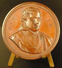 Médaille Belgique Hymne à Pie IX Hart Bruxelles Pape Pope Pius Pio Belgium medal