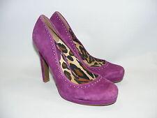 Women's Jessica Simpson 9.B Purple Suede Platform Heels Shoes Pumps Closed Toe