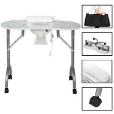 New Portable Manicure Nail Table Desk Salon Beauty Equipment w/ Dust Collector