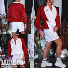 NEW XL Mens Vintage Shiny Tracksuit Top Scally Sports Jacket Coat Summer Run.724