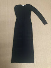 Stunning & Other Stories Blue Black Semi Sheer Stripe Maxi Bodycon Dress Size S