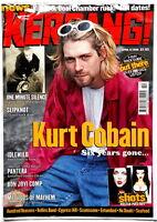 NIRVANA Kurt Cobain on cover of Kerrang April 8th 2000 Pearl Jam  grunge