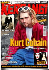 NIRVANA Kurt Cobain on cover of Kerrang April 8th 2000 Pearl Jam  grunge