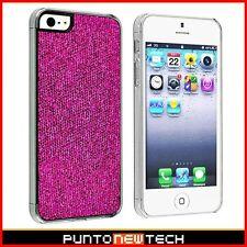 Cover CUSTODIA STRASS GLITTER per IPHONE 5 5S SE BUMPER/ BLING HARD CASE