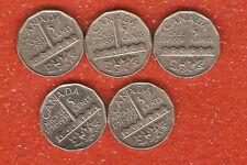 5 canada 1951 commemorative five cent coins