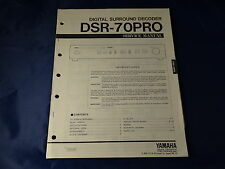 Yamaha DSR-70PRO Service Manual