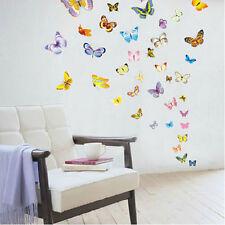 81pcs Colorful Butterfly Wall Art Custom Girls Bedroom Vinyl Kids Sticker PVC