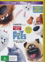 The Secret Life of Pets DVD NEW Region 4 digital ultraviolet