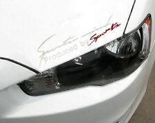 "14"" X4.5""Sports Mind Silver Car Headlight Taillight Eyebrow Decal Sticker Vinyl}"
