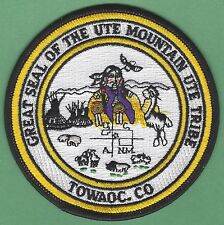 UTE MOUNTAIN COLORADO TRIBAL SEAL PATCH