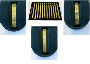 Expander Watch Bracelet Gold Tone Body Size 10 - 14 mm LADIES STRAPS