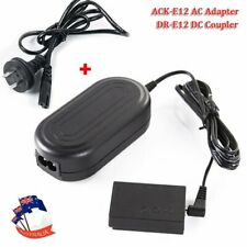 ACK-E12 AC Power Adapter + DR-E12 DC Coupler For Canon EOS M M2 Camera
