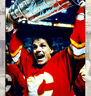 Hakan Loob Calgary Flames Autographed 8x10 with 1989 Stanley Cup Inscription