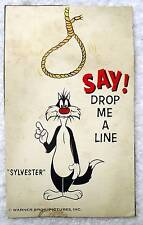 POSTCARD SYLVESTER WARNER BROTHERS CEREAL BOX CUT OUT #K9
