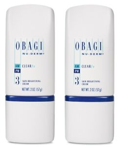 Obagi Nu Derm Clear FX Skin Brightening Cream 2 oz - 2 PACK GIFT SET
