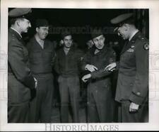 1951 Press Photo Lt. Col. Gordon Doolittle, Bourcier, Miller, Brig. Gen. Dodson