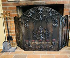 Decorative Iron Fireplace Screen