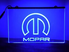 Mopar Neon Sign Light Blue 3D Printed Sign Mancave Home Bar Garage Shop