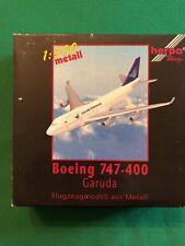 Boeing 747-400 Garuda Indonesia. Herpa Wings 1:500 metall - Art. nr. 500630