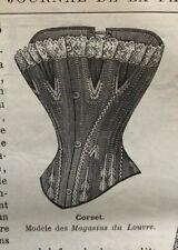MODE ILLUSTREE SEWING PATTERN July 3, 1892 - Corset, lingerie