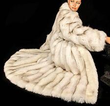 L Vintage Blaufuchs Pelzmantel Fuchs Fellmantel SAGA fox fur coat renard Luxus