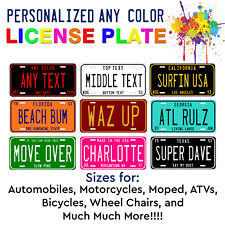 Color-Pop Any State Any Color Customized License Plate For Auto Atv Bike Bicycle