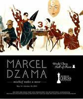 1992-Marcel Dzama:Mischief/Move-World Chess Hall-Artist Exhibition Vtg Ad Print