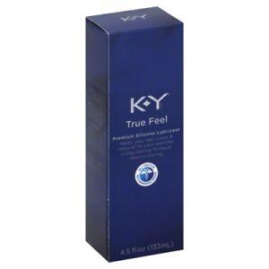 KY True Feel Premium Silicone Lubricant, Non-Irritant, 4.5 Oz