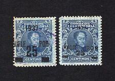 Venezuela 1937 2 stamps Mi#210(1)+(2) used+MH CV=551,20€