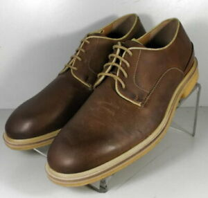 271912 MS50 Men's Shoes Size 10 M Brown Leather Lace Up Johnston & Murphy