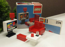 Lego® 274 Fernseher Sessel Tisch Wohnzimmer + Legoland Box + Anleitung OVP
