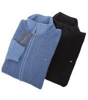 Tommy Hilfiger Men's Full Zip Mock Turtle Neck Knit Sweater Jacket -Free $0 Ship
