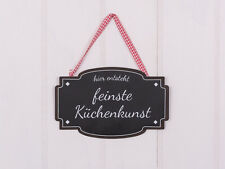 """Metallschild """"Feinste Küchenkunst"""""""