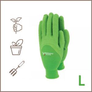 Town & Country Master Gardener Lite Gloves - Green, Large TGL444L Grip Knitted