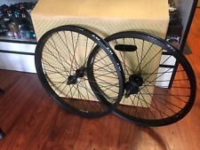 "REVENGE COMPLETE 22 INCH WHEEL SET WHEELS 22"" BLACK OEM BMX BIKE FACTION BF22"