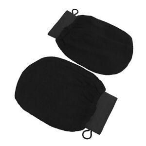 Gant de gommage au hammam marocain noir, gants exfoliants magiques pour le b_fr